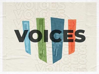 Voices Series Graphic design sermon art sermon series church