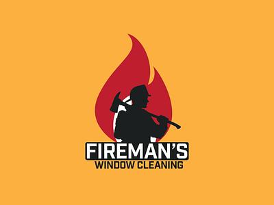 Firemans Window Cleaning business branding logo