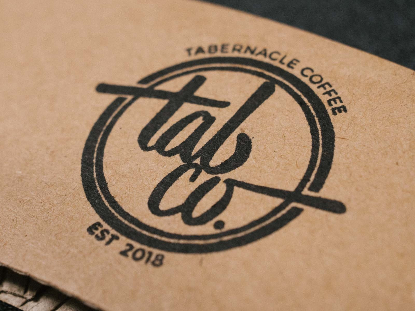 Tab Co Coffee Branding cardboard logo branding coffee