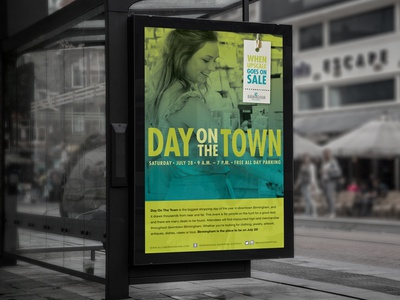 Day on the town transit advertising