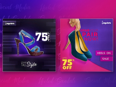 Heeled Sandals Social Media Designs [Free PSD]