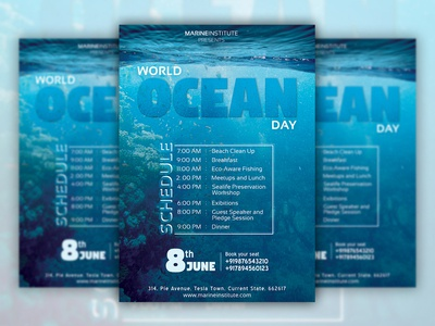 World Ocean Day Flyer