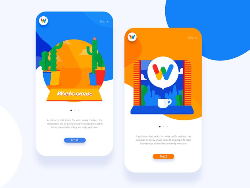 Welcome Tag by Google mobile app mobile app design mobile ui mobile designer dailyui web uixdesign uix ui design colors vector illustration flat
