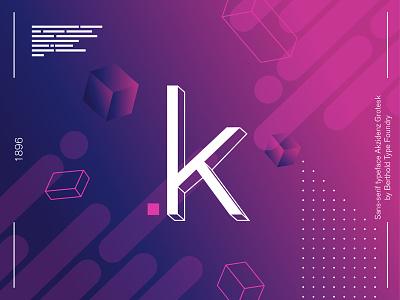 36 Days of Type - Akzidenz Grotesk K #010 graphic design vector illustration frutiger akzidenz letter font typo design typography 36daysoftype