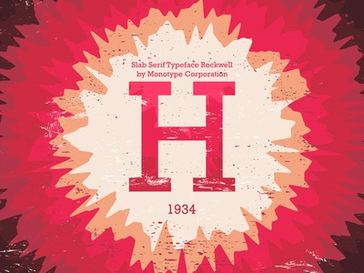 36 Days of Type - Rockwell H #014