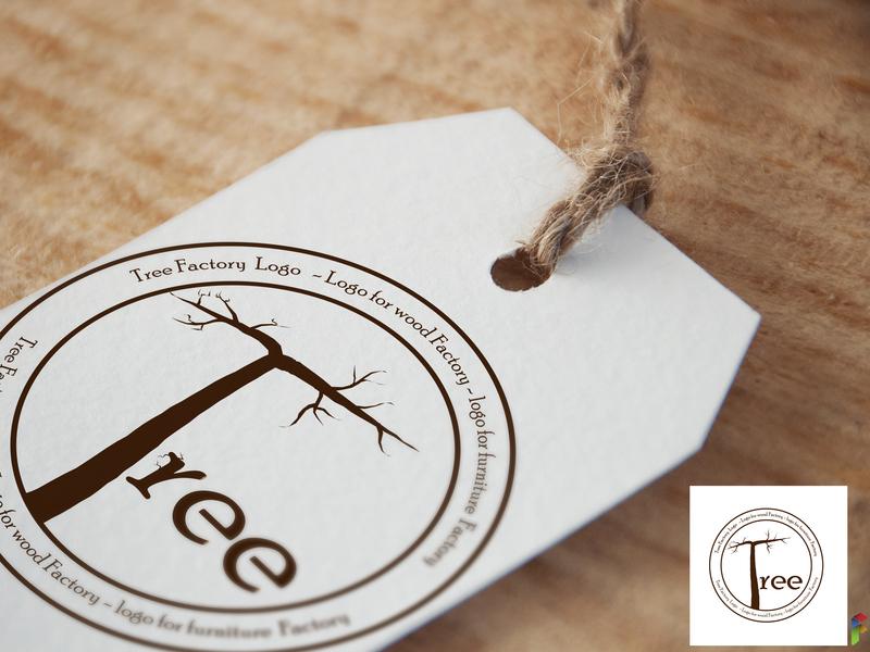 Tree Logo Factory 02 branding vectorart illustrations graphic-designers graphic-designe vector art vector illustration design logo design tree