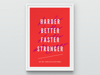 Harder Better Faster Stronger - Lyrics Poster