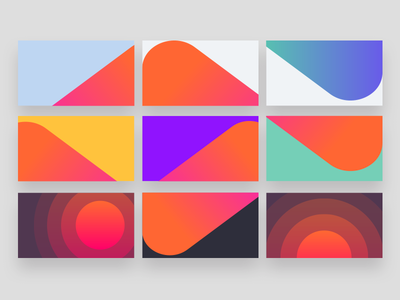 Musixmatch brand visual  blocks + patterns app music abstract vibrant colour brand identity logo color visual branding