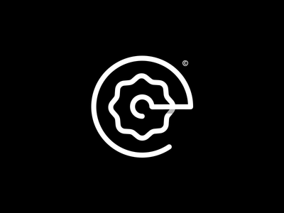 Crank — Organic Bikery vegan bio restaurant icon music food bike logo branding