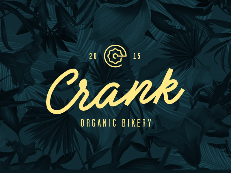 Crank — Logotype branding design clean concept bike restaurant food beer lettering typo type logo