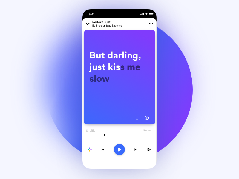 Lyrics Player Redesigned