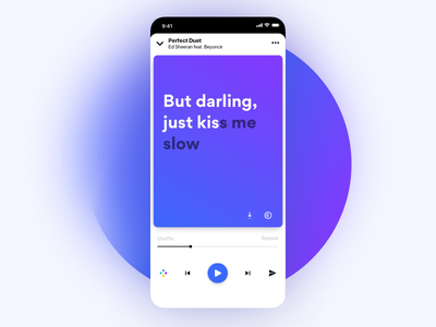 Lyrics Player Redesigned visual brand icon concept redesign minimal android ios music app lyrics player