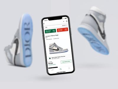 StockX Product Page! ecommerce branding app design product stockx sneaker sneakers product page ux ui design app