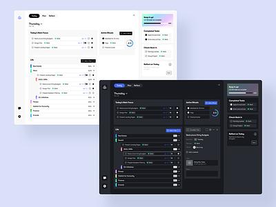 AI Productivity Tool dark mode system productivity tool dailyui app design ux design app ui
