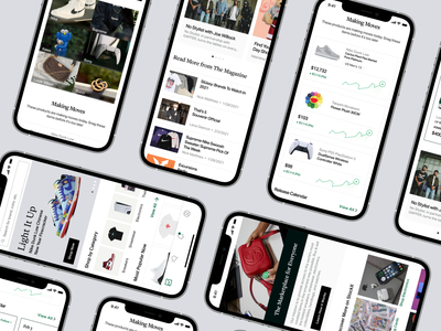 Homepage + Marketplace - Cultivating Current Culture collection editorial buying market home ios streetwear sneakers shopping homepage marketplace illustration discover dailyui app design ux design app ui