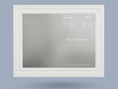 Smart Mirror app ux bathroom smart home iot ui design smart mirror