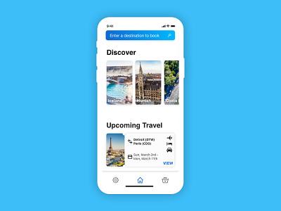 Away Travel app iphone x ui design discover travel app ux