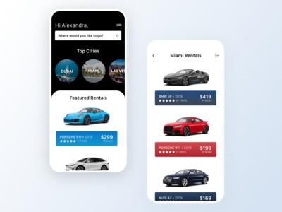 Luxury Car Sharing UI