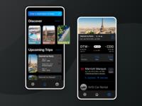 Away Travel Discovery App Dark Mode - UI Design
