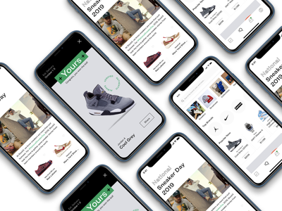 StockX Prototype notification shopify account inbox search browse stockx shoes sneakers sneaker shopping shopping app discover app design dailyui shop ux design app ui