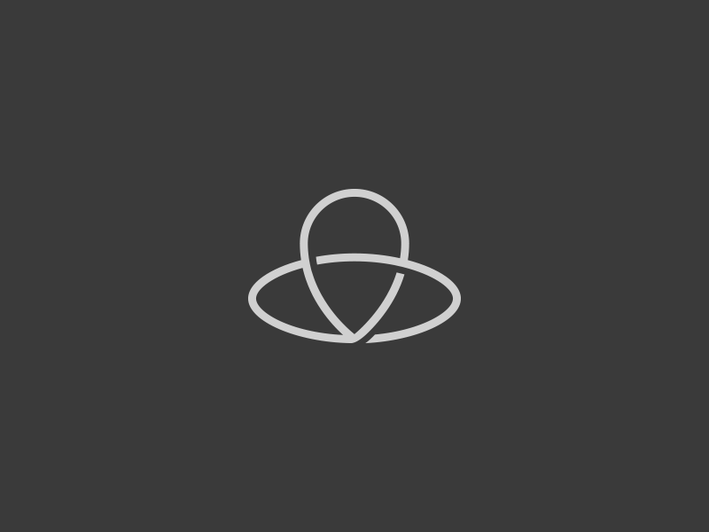 Landmark area pointer simple symbol oneline logo icon landmark