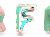 3D Typography: F