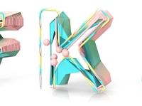 3D Typography: K