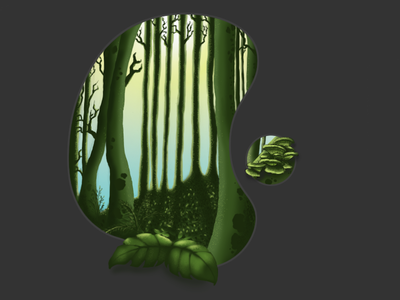 Wild Forest photoshop fast painting forest wacom bamboo digital painting
