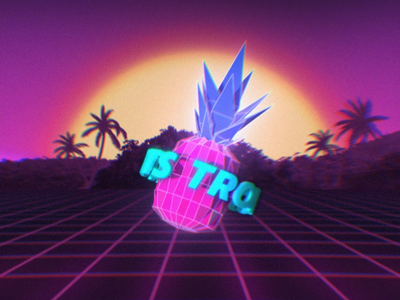 Tropical fruits. Low Poly Art noise low poly art fruits design neon retrowave retro lowpoly vintage motion animation