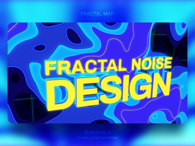 Fractal Noise Design 2d abstract 3d grid texture blur blue glow design glassmorphism noise fractal motion design motion animation
