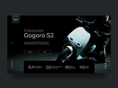 Gogoro banner web design ui