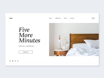 Five more minutes website sleep ux site minimal linens interaction design interaction ui web graphic design graphic design