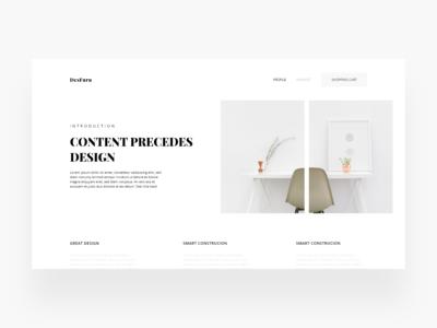 Content Precedes Design
