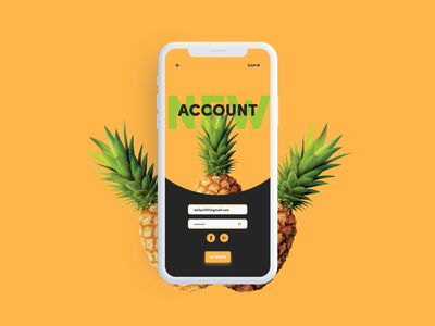 Daily UI #001 - Sign Up - Social Pineapple pineapple brazil daily ui 001 daily ui ui deisgn