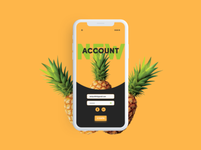 Daily UI #001 - Sign Up - Social Pineapple