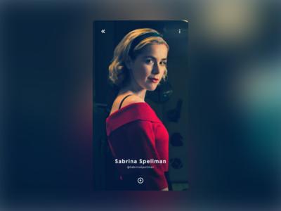 Daily UI #006 - User Profile - Sabrina