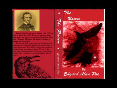 Poe - The Raven Cover poem raven poe book cover art book cover book cover design book print design print vector typography illustration design