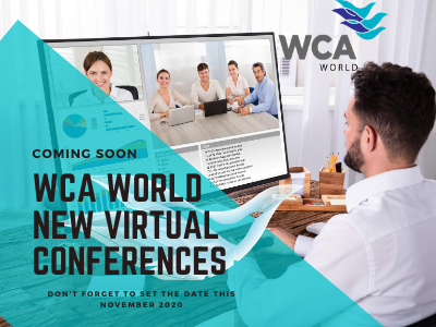 WCA Virtual conference promo facebook promo social media design social media vector typography illustration branding design
