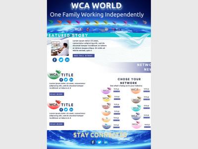 WCA - Newsletter Prototype design icon promotion social media design email marketing email design email typography illustration design branding newsletter template newsletter design template