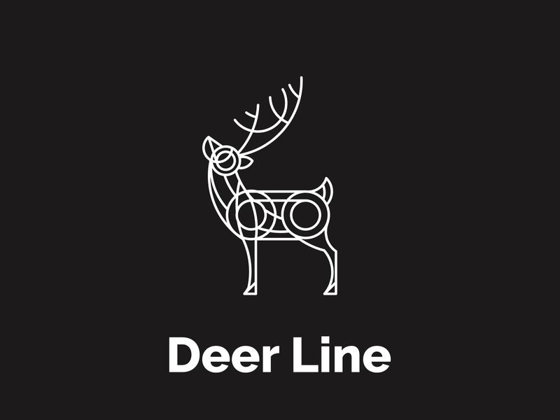 deer line line art logo deer illustration deer logo deer logo ideas branding animal logoideas cartoon logoawesome logo design design logo concept logo