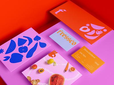Fressco® logo shakes fruits juice freelance creative logos branding process branding design visual identity portfolio stationery design stationery