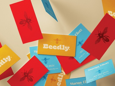 Beedly illustration typography design freelance visual identity branding process coloful logo colors package design stationery honey bee packaging portfolio