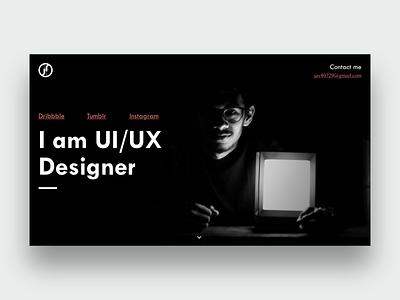 Personal Portfolio Web typography design landingpage web portfoliowebsite portfoliodesign graphic design ux