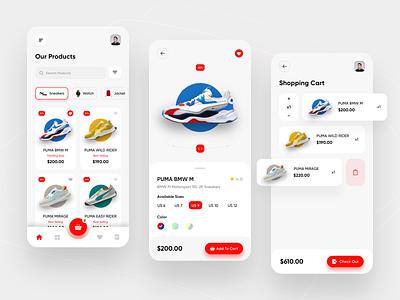 E-commerce App UI uiux shoe app ui e-commerce ui appdesign app design graphic design