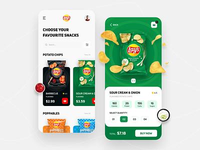 Lay's App Concept 🍿 like concept lays app ui graphic design branding uiux appdesign wafers app ui