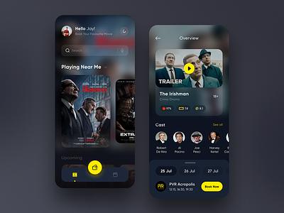 Cinema Booking App 🎞 typography movie cinema booking app 🎞 cinema booking uiux design graphic design appdesign app ui