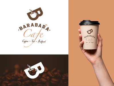 BARABARA Cafe Logo Design brand coffee logo coffee cafe design typography uiux branding illustration logo graphic design