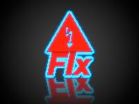 FIx Neon Reflection Logo