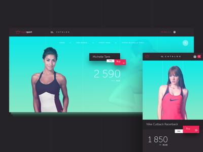 RoyalSport E-commerce Concept