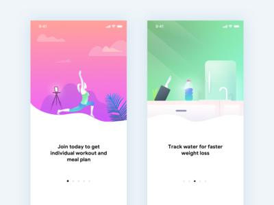 Fitness App - Onboarding Screens